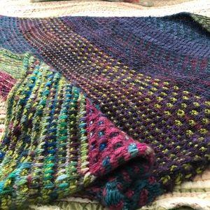 Hand knit shawl